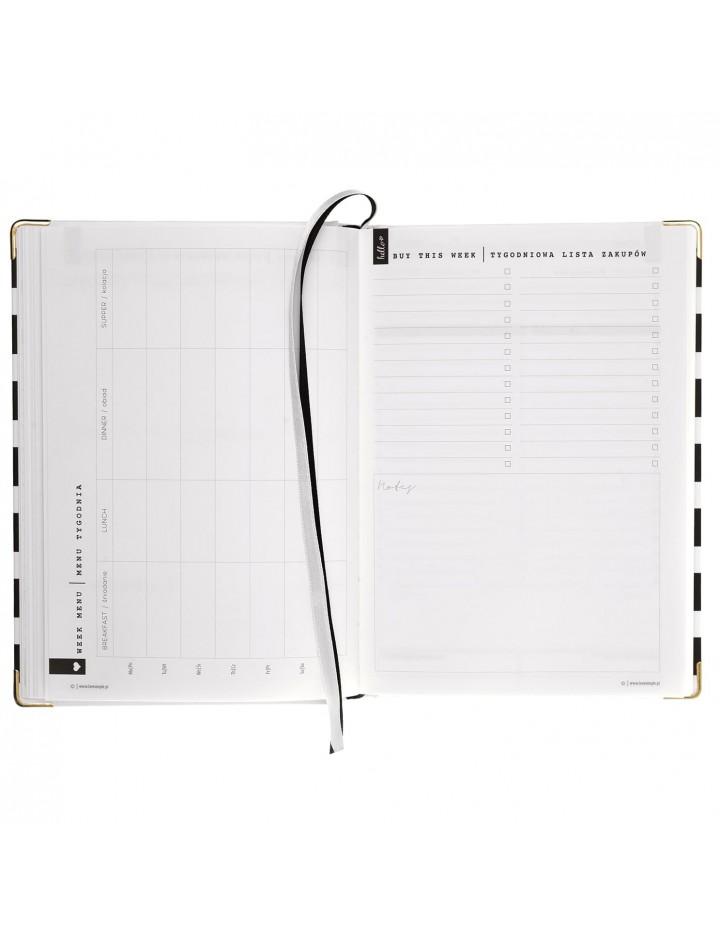 Simple Planner / Czarne Pasy