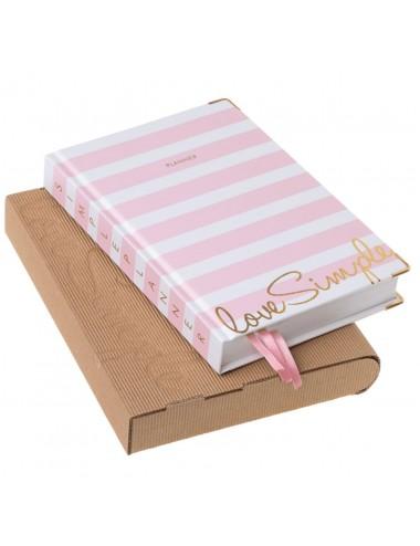 Simple Planner / Różowe Pasy